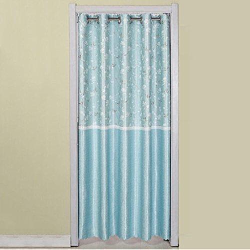 Liuyu · Maison de Vie Porte Rideau Tissu Rideau Cut Off Double-Face Épaississement Ménage Cuisine Chambre Baie Fenêtre (Couleur : Bleu, Taille : 180 * 150cm)