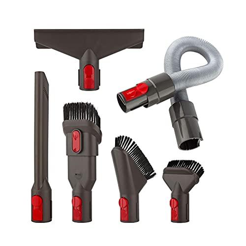 AINUO Kit Accessori Kit Spazzole per Aspirapolvere senza fili Dyson V7 V8 V10 V11 SV10 SV11, con Tubo Flessibile (6 in 1)