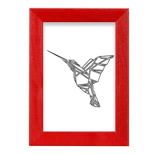 postergaleria Bilderrahmen | 10x15 | 3er Satz | Rot | Holz | Plexiglas | 8 Farben | 10 Größen | Posterrahmen | Fotorahmen