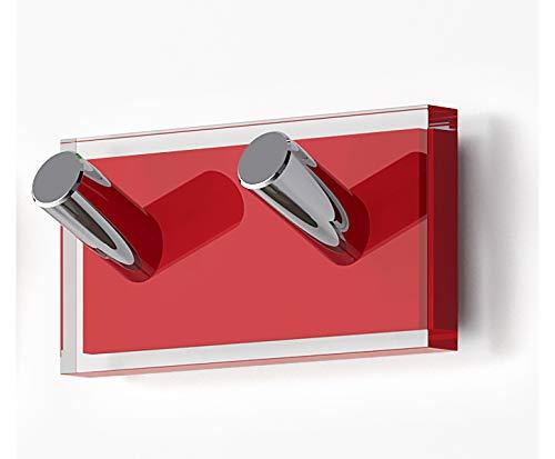 Gedy Rainbow Kleiderbügel, thermoplastisches Harz, transparent, Rot, doppelseitig