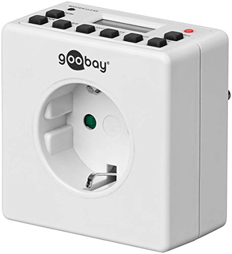 Goobay 93256 - Enchufe digital con temporizador para interiores