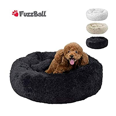 FuzzBall Fluffy Luxe Pet Bed for Dogs & Cats, Anti-Slip, Waterproof Base, Machine Washable, Durable ? 3 Colors Available