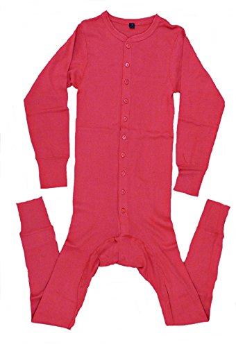 AW-Collection Long John Westernunterwäsche Einteiler mit Gesäßschlitz rot S-4XL (L)