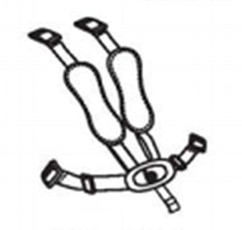 Ersatzteil für Hochstuhl Bloom fresco - Gurt mit Schnalle - #06 - safety harness - midnight black