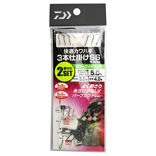 ダイワ(DAIWA) 快適カワハギ 3本仕掛けSS+S パワーワイド 5.0号