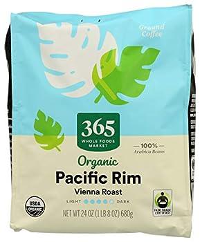 365 by WFM Coffee Vienna Roast Pacific Rim Ground Organic 24 Ounce