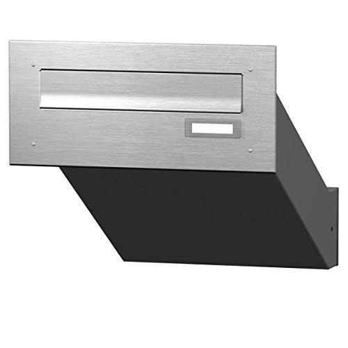 Max Knobloch Mauerdurchwurf-Briefkasten Edelstahl MD10-OR-E (1 x 12 Liter)