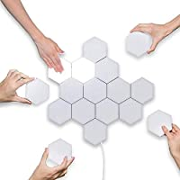 CORAL TREE Quantum Lamp Touch Sensitive Light Modular Hexagon Panel Lamp for 5 Module with Power Supply (White, Pack of 5)