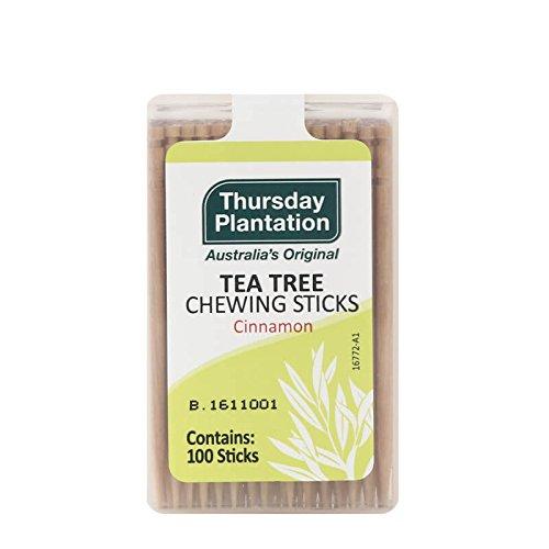 Thursday Plantation Tea Tree Chewing Sticks Cinnamon, Pack of 3