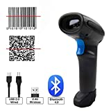 KAMELUN Barcode-Scanner 3-in-1 Wireless 2,4 GHz Wireless, Bluetooth, USB 2.0 Kabel...
