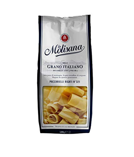 La Molisana, Paccarelli Rigati n.321 Pasta Corta, SOLO Grano Italiano - 500g