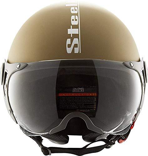 AUTOTRUMP Steelbird SB 27 Polystyrene Open Face Helmet with AUTOTRUMP Brand helmet lock (Desert).