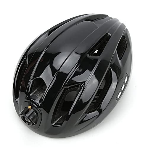 SHYEKYO Casco de Bicicleta, Casco de Bicicleta Resistente y Duradero para Bicicleta para Adultos(Negro Completo, Tipo de Torre Inclinada de Pisa)