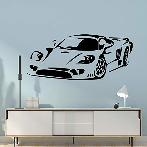 Vintage Super Sports Car Marca famosa Etiqueta de la pared del coche de lujo DIY Vinilo Art Decal Boy Kids Dormitorio Sala de estar Racing Club Servicio de reparación Decoración para el hogar Mur