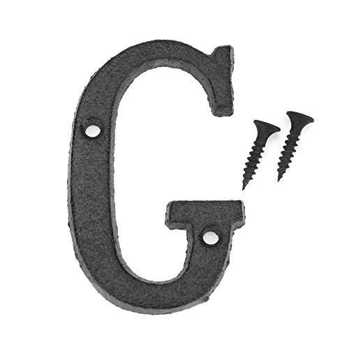 Domybest Haus-Alphabet aus Metall, Buchstaben, Türzeichen, Rue Hausnummer mit Befestigungsschraube