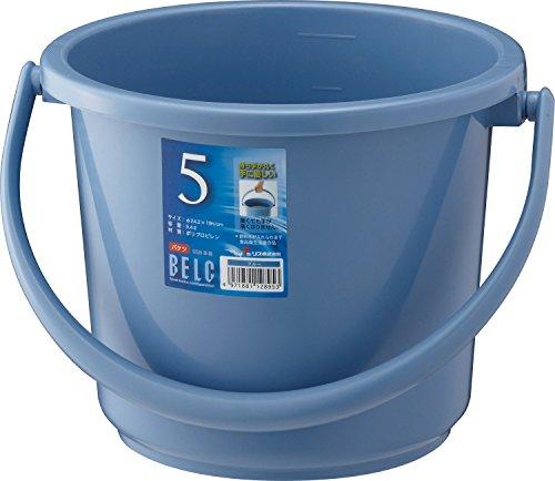 リス バケツ 丸型 ベルク 本体 5.4L 日本製 ガーデニング 掃除 プラスチック ブルー 直径242×190mm 5SB