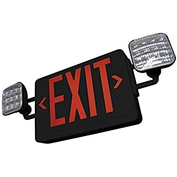 eTopLighting 1PCS LED Exit Sign Emergency Light Lighting Emergency LED Light//Modern Battery Backup UL924 E3SCR-B-1 Battery Back-up//Black//Red Letter