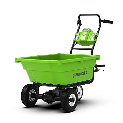 Greenworks accu kruiwagen G40GC (Li-Ion 40V 4,2 km/h rijsnelheid 2,4 km/h snelheid achteruit 100kg max. belasting zonder…