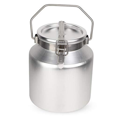 Cubo de Leche 5L Aleación de Aluminio transportable Barril de fermentación de Leche Tanque de Cubo con asa