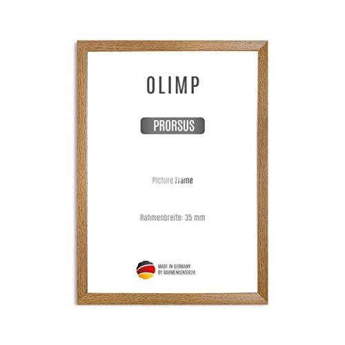 Olimp PRORSUS 35mm Bilderrahmen im DIN A3 Format für 29,7 x 42 cm Bilder Farbe Eiche rustikal inkl Anti-Reflex Kunstglasscheibe