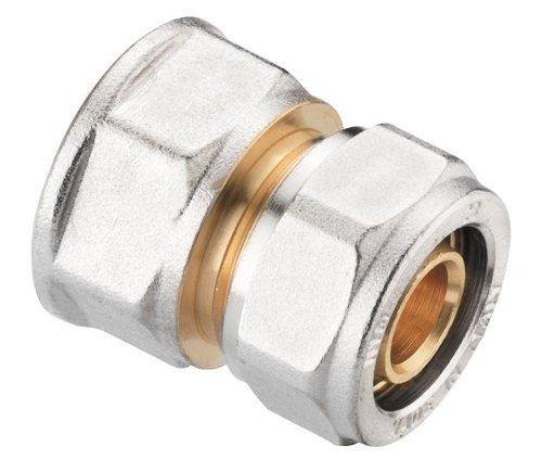 Verbundrohrsystem Schraub-Kupplung Übergang 20 mm x 1/2 Zoll IG, messing
