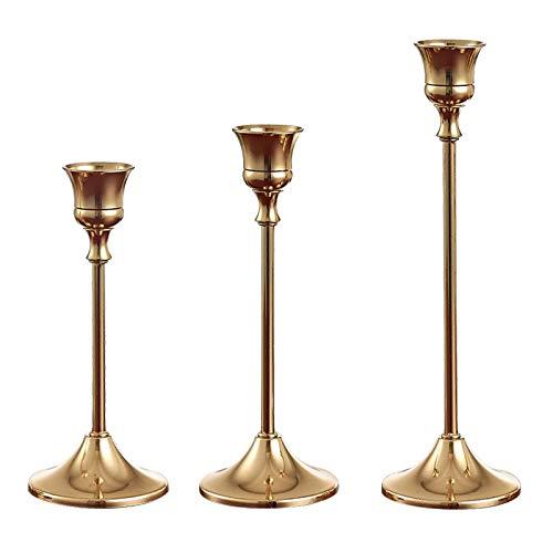 HUIHU Candelabros de Metal, candelabros Dorados, centros de Mesa, centros de Mesa para decoración de Navidad y Bodas