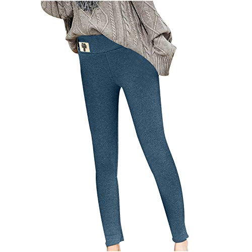SmallYin Leggings Suaves Engrosadosde Felpa Leggings de Terciopelo de Cordero con Elemento de Gato Leggings de Cintura Alta de OtoñO e Invierno para Mujer Pantalones TéRmicos