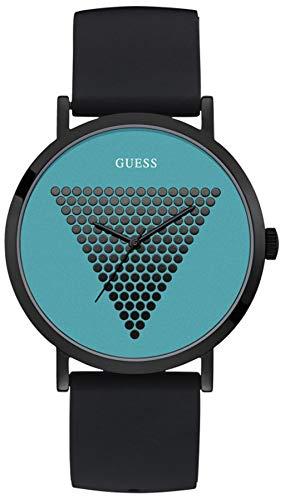 Guess Imprint W1161G6 herenhorloge zwart turquoise 44 mm