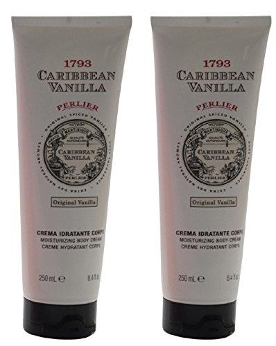 Perlier Crema Idratante Corpo Caribbean Vanilla, Bianco...