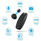 Spy Camera-Hidden Cameras- Car Key Camera 1080P 2 Hours Video/4 Hours Audio Taking 32G Memory Include High Quaility、Loop Recording、 Recording while Charging、Support Up to 128G Memory Portable Handheld
