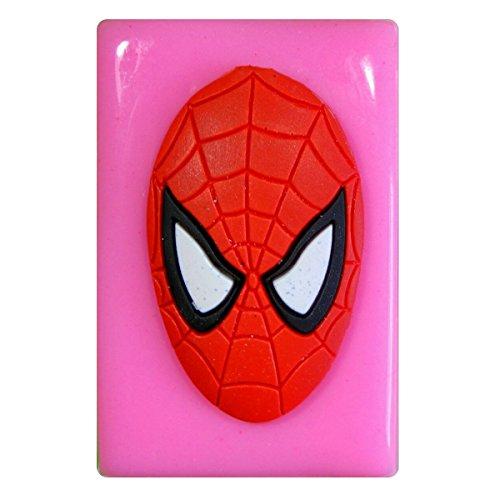 Masque Spiderman Grand moule en silicone Moule pour décoration gâteau glaçage pour gâteau Sugarcraft outil de fées Blessings