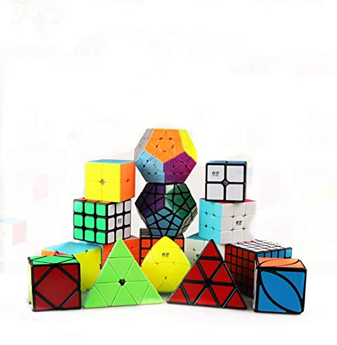 XUEE Speed Cube Set, Magic Cube Set van 2x2x2 3x3x3 Pyramid vormige bol Glad Puzzel kubus
