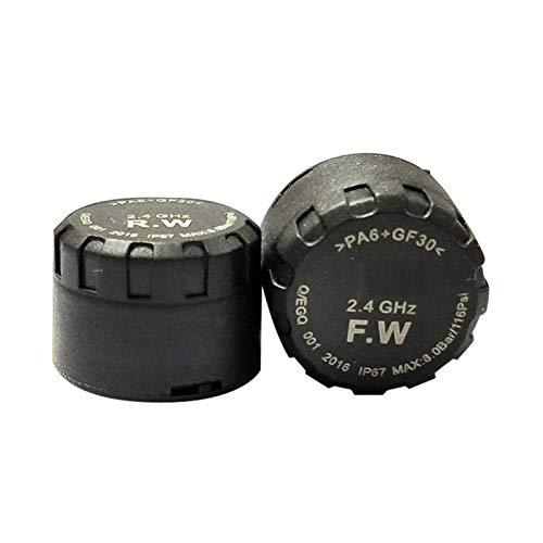 Cirdora TPMS Impermeable Flash Proof General Wireless Moto Tire Pressure Monitoring System con 2 sensores externos App Control para iOS y Android para dos ruedas Moto