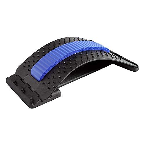 HOOMAGIC Camilla de Espalda Dispositivo de Estiramiento Lumbar Masajeador de Espalda Dispositivo de Soporte para Aliviar el Dolor de Espalda