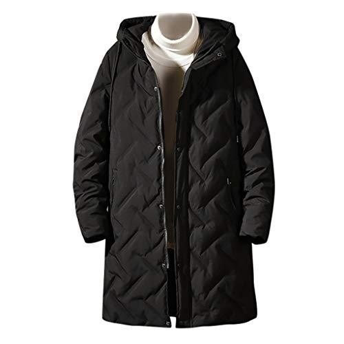 Hotopick heren jas MäNner Ski-Wear winterparka overcoat katoenen mantel medium mantel met capuchon van stevig katoen