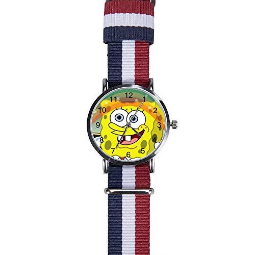 Spongebob Regenbogenuhr Freizeit Armbanduhr Quarz für Männer Frauen Kinder Freunde Geschenk