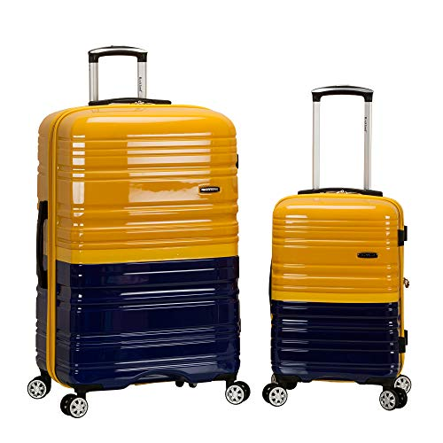 Rockland Melbourne Hardside Expandable Spinner Wheel Luggage, Two Tone Navy, 2-Piece Set (20/28)