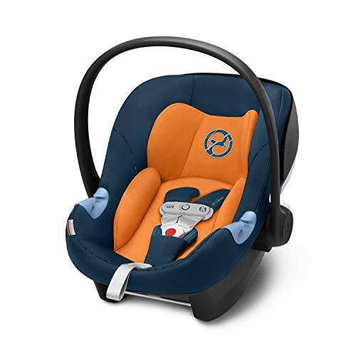 Cybex Gold Babyschale Aton M i-Size, Inkl. SensorSafe, Für Kinder ab 45 cm bis 87 cm, Max. 13 kg, tropical blue