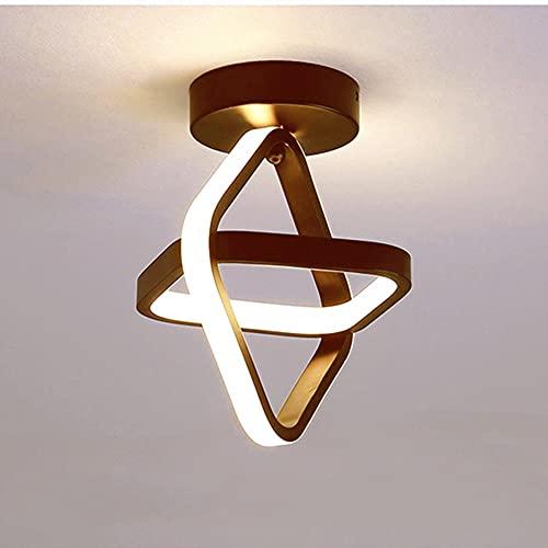Goeco LED Deckenleuchte, 22W moderne Deckenbeleuchtung, Korridor Deckenlampe, Für Balkone Flure Schlafzimmer, Warmweißes Licht 3000K