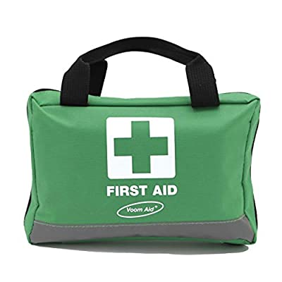 90 Piece Compact Premium First Aid Kit with Reflective Bag - Includes Eyewash, Ice Packs & Emergency Blanket - Ideal for Home, Office, Outdoor, Sports, Hiking, Car, Boat, Caravan, Workplace & Travel. by Voom Direct