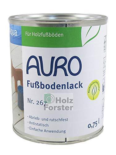AURO Aqua Fußbodenlack Nr. 267 Farblos, 0,75 Liter