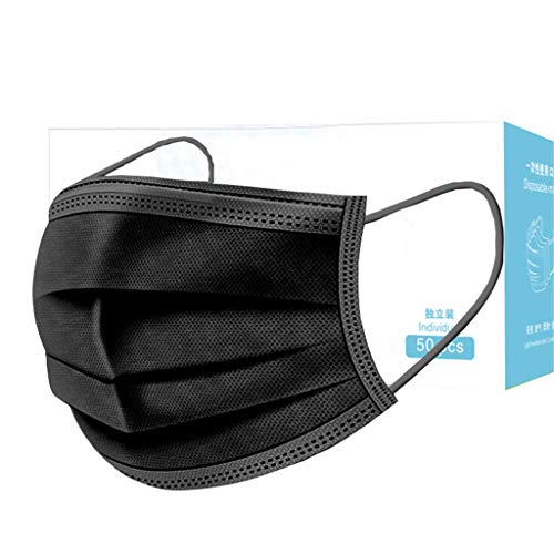 SANGQU Individual Package 50PCS, Easy to Carry and Store, Disposable Product Important for Your Health (Black)