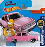 2017 Hot Wheels The Simpsons Car - Pink - HW Screen Time - #112