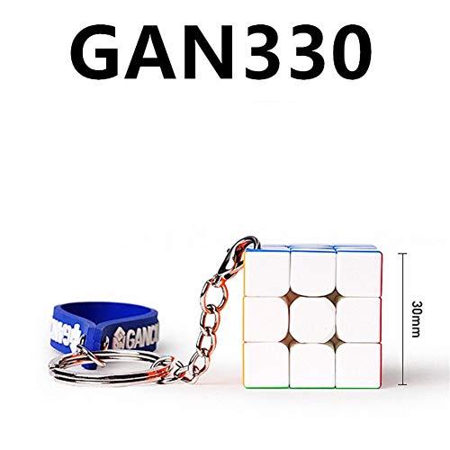 Cubo de la Velocidad - de GAN330 Cubo de Rubik Llavero Mini - Diversión de la Educación Cubo de Rubik Colgante Juguetes educativos (Color : GAN330)