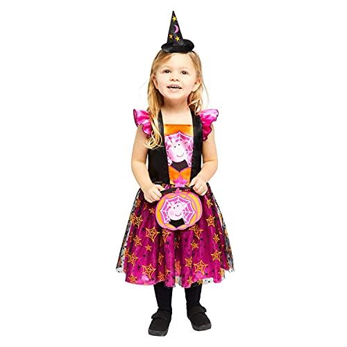 Amscan - Kinderkostüm Peppa Pig Hexe, Kleid, Hut, Tasche, Mottoparty, Karneval, Halloween