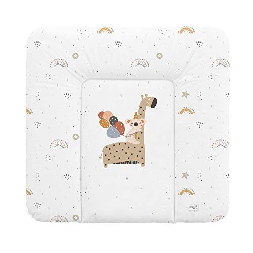 Wickelauflage weiche Wickelunterlage Baby Wickeltischauflage Abwaschbar 75x70 Giraffe