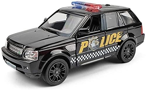 XYBHD Toy Car 1:36 Simulación Policía Modelo Modelo Aleación Modelo Modelo Público Seguridad Off-Road Toy Metal Anti-Fall Tire Toy Toy Coche Puede Abrir LA Puerta Toy Toy Car Regalo
