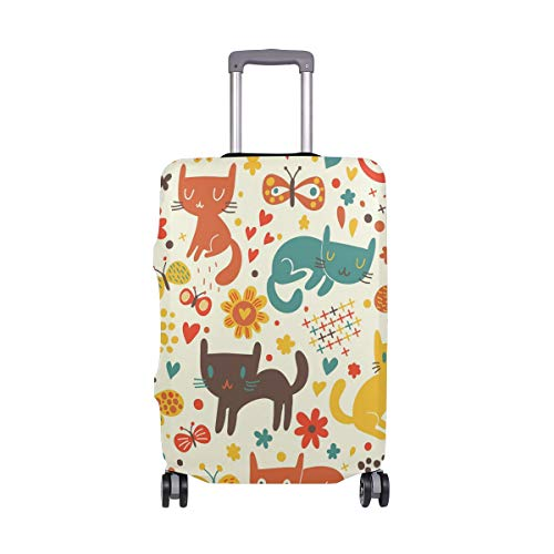 Funda para Maleta de Gatos, Multicolor, Solo Funda