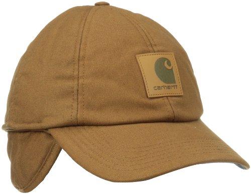 Carhartt Stretch Fitted Earflap Cap Gorra de béisbol, marrón, XL Unisex Adulto