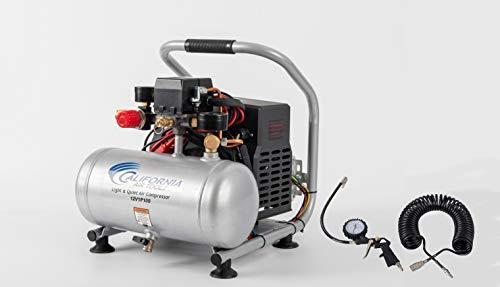 California Air Tools 12V1P10S Light & Quiet .12 Volt, 1.0 Gal. Steel Tank Portable Air Compressor